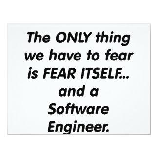 """enginner del software del miedo invitación 4.25"""" x 5.5"""""""