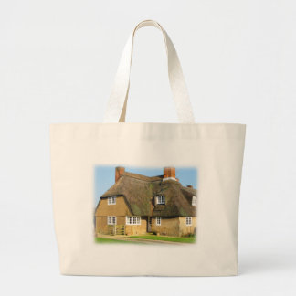 Engish Thatched Roof Cottage Tote Bags