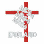 England 2010 Embroidered zip hoodie