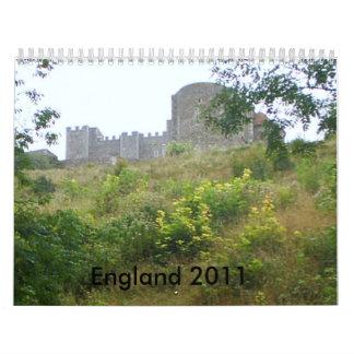 England 2011 calendar