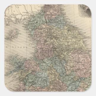 England 3 square sticker