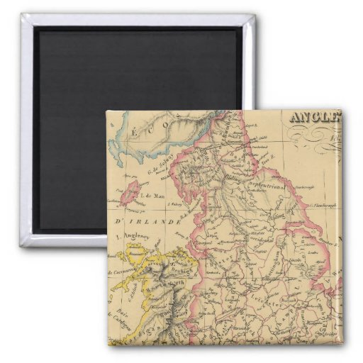 England 4 2 inch square magnet