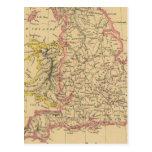 England 4 postcard