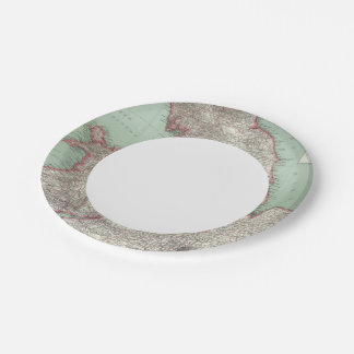 England 5 paper plate