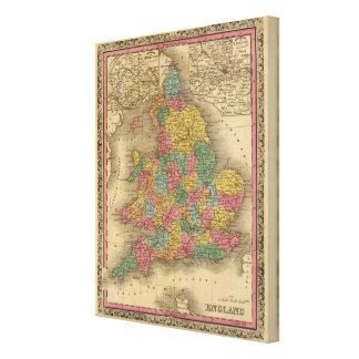 England 9 canvas print