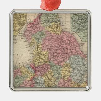 England 9 square metal christmas ornament