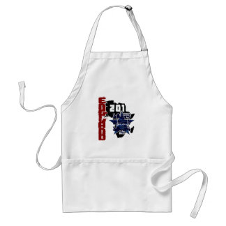England Africa map grunge 2010 gear Adult Apron