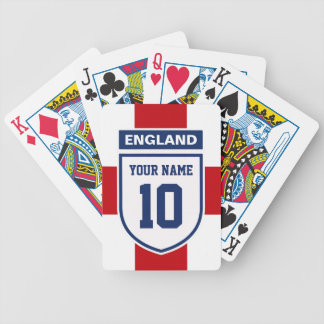 England Allegiance Fans - Customizable Name Number Bicycle Playing Cards