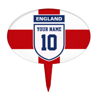England Allegiance Fans - Customizable Name Number Cake Toppers
