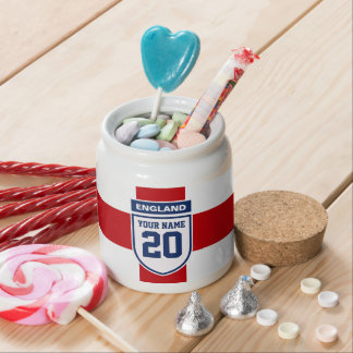England Allegiance Fans - Customizable Name Number Candy Jars