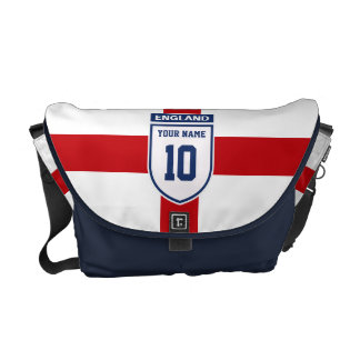 England Allegiance Fans - Customizable Name Number Courier Bag