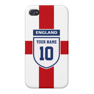 England Allegiance Fans - Customizable Name Number iPhone 4/4S Case