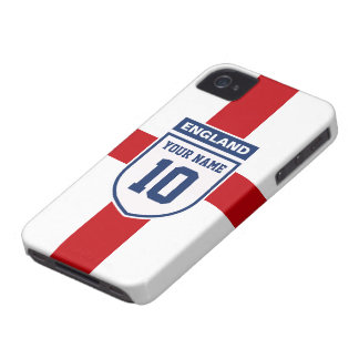 England Allegiance Fans - Customizable Name Number iPhone 4 Case-Mate Case