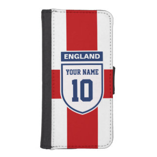 England Allegiance Fans - Customizable Name Number iPhone SE/5/5s Wallet Case