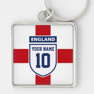 England Allegiance Fans - Customizable Name Number Key Chain