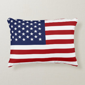 England and American Flag Accent Pillow