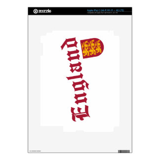 England and Crest Decal For iPad 3