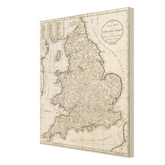 England and Wales 3 Canvas Print