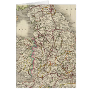 England and Wales 3 Greeting Card