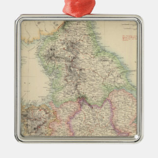 England and Wales 4 Metal Ornament