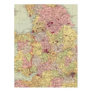 England and Wales 5 Postcard