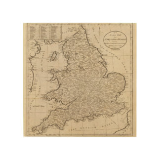 England and Wales 6 Wood Wall Art