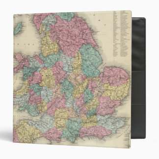 England And Wales 3 Ring Binder
