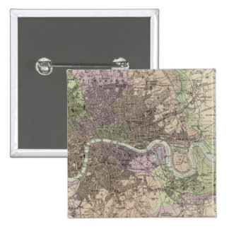England and Wales - Cities, Ports and Harbours 2 Inch Square Button
