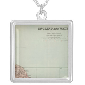 England and Wales Northeast Square Pendant Necklace