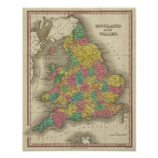 England And Wales Print
