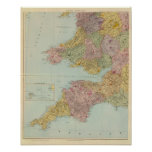England and Wales Southwest Print