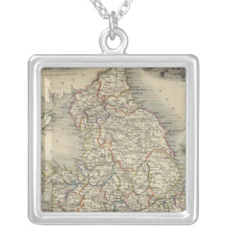 England and Wales Square Pendant Necklace