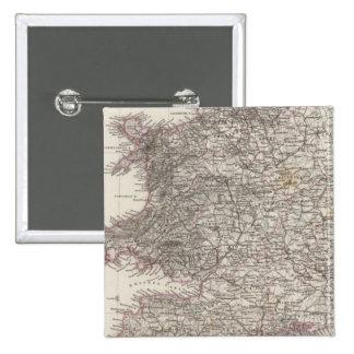 England Atlas Map Pinback Button