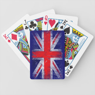 England blue and red flag bicycle playing cards