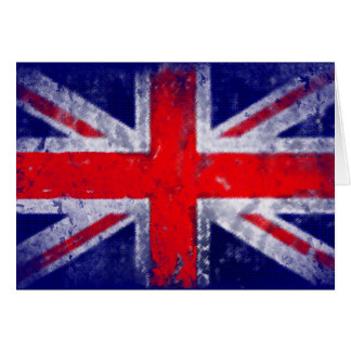 England blue and red flag greeting card