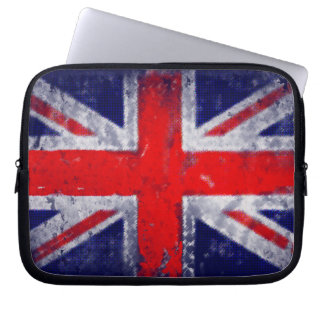 England blue and red flag computer sleeve