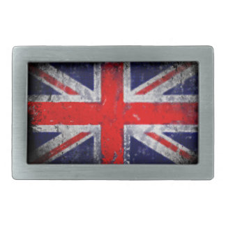 England blue and red flag rectangular belt buckle