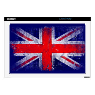 England blue and red flag skins for laptops