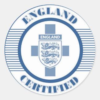 ENGLAND BLUE CLASSIC ROUND STICKER