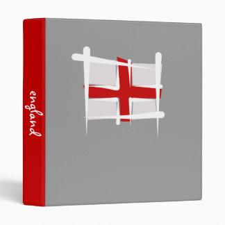 England Brush Flag 3 Ring Binder