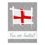 "England Brush Flag 5"" X 7"" Invitation Card"