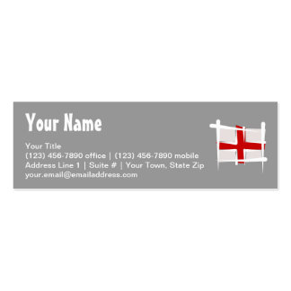 England Brush Flag Double-Sided Mini Business Cards (Pack Of 20)