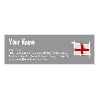England Brush Flag Business Card