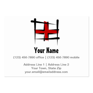 England Brush Flag Large Business Cards (Pack Of 100)