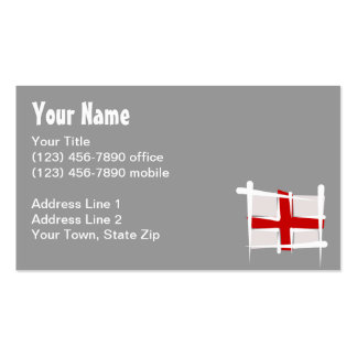 England Brush Flag Double-Sided Standard Business Cards (Pack Of 100)