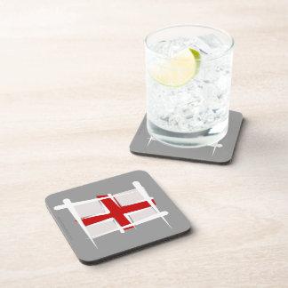 England Brush Flag Beverage Coaster