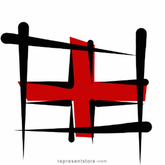 England Brush Flag Cutout