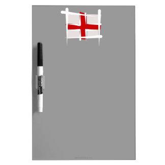 England Brush Flag Dry-Erase Whiteboard