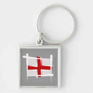 England Brush Flag Keychain