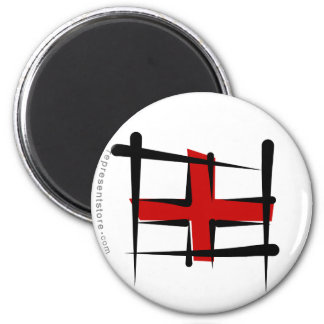 England Brush Flag Magnet